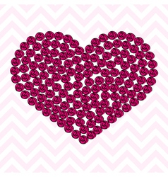 pink heart pattern made roses vector image