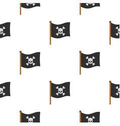 Pirate flag pattern flat vector