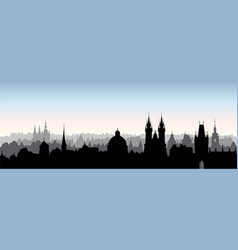 prague city chezh skyline view cityscape with vector image