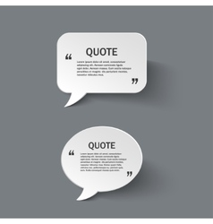 Quote form on paper speech bubbles vector