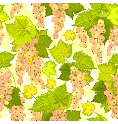 Red currant seamless pattern Collection of vector image