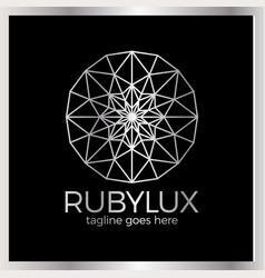Ruby luxury logo - jewelry shop vector