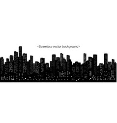 seamless night cityscape vector image