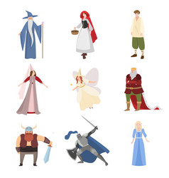 set different fairy tale character personages vector image
