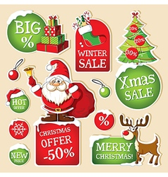 Set of Christmas price tags vector