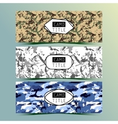 Set of Vintage Creative Banners with Camo vector