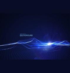 Shiny blue wave vector