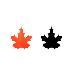 Sign of maple leaf vector