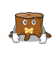silent tree stump mascot cartoon vector image