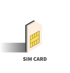 Sim card icon symbol vector