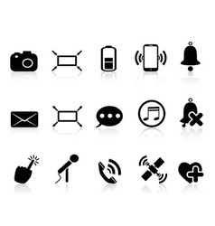 simple smartphone icons set vector image