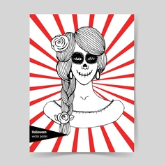 Sketch mexican girl vector image