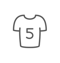 soccer players shirt line icon vector image