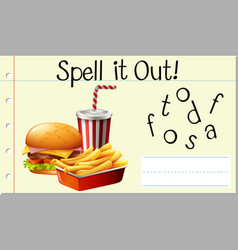 Spell it out fastfood vector