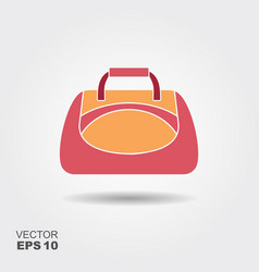 sport bag icon in flat style with shadow vector image