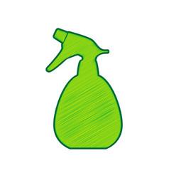 Spray bottle for cleaning sign lemon vector