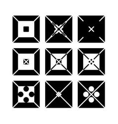squares logos vector image