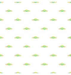 Sunrise over sea pattern cartoon style vector
