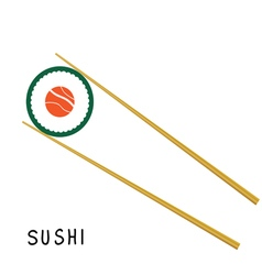 sushi food color vector image