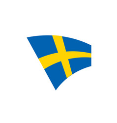 sweden flag vector image