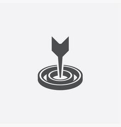Target arrow icon vector