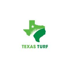 texas turf lawn and garden care company creative vector image