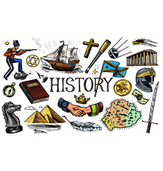 The history people science and education vector