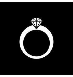 The ring icon Diamond and jewelry wedding symbol vector image