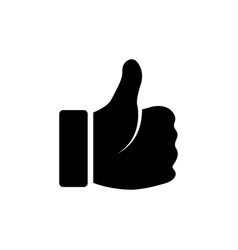 thumb up icon graphic design template vector image