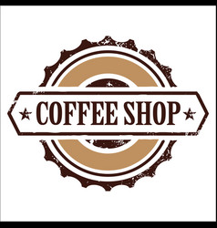 Vintage banner coffee shop image vector