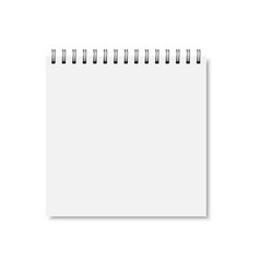 White realistic closed notebook cover vector