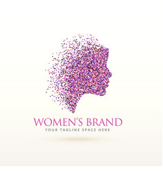 Woman face logo design for feminism concept vector