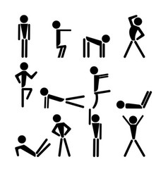 yoga icons set vector image
