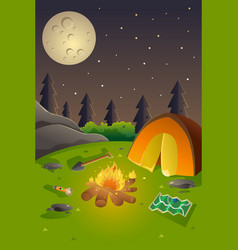 Youth summer camp poster vector