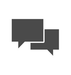 chat solid icon vector image