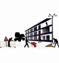 construction objects vector image