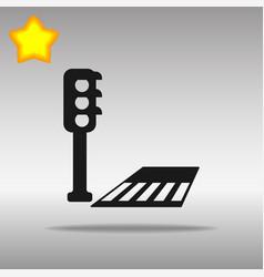 crosswalk black icon button logo symbol vector image vector image