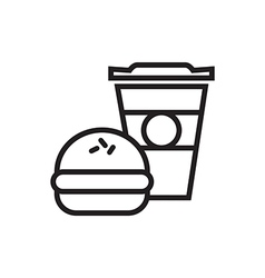 Fast Food Icon Outlined vector image vector image