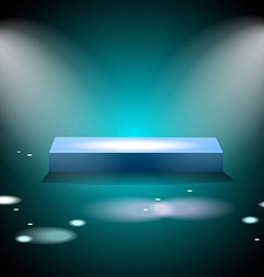 Glowing square podium vector image vector image