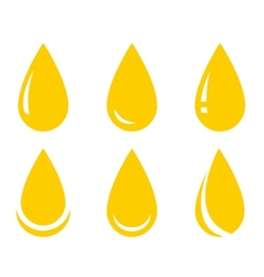 Oil drop set vector
