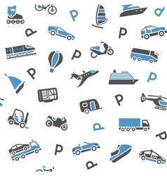 Seamless background transport icons - wrapping vector image vector image