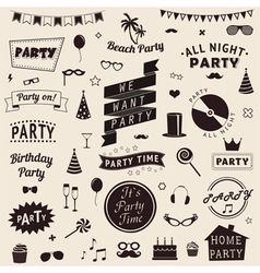 set of party icons set of party icons vector image vector image