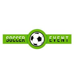 Soccer event logo vector image