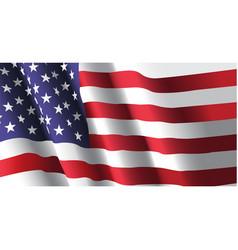 American flag waving vector