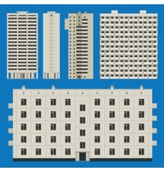 Buildings set with block houses vector image vector image
