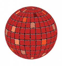 ceramic tiles sphere vector image vector image
