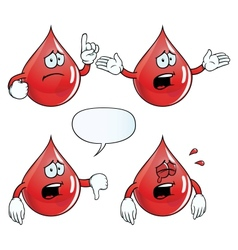 Crying blood drop set vector image