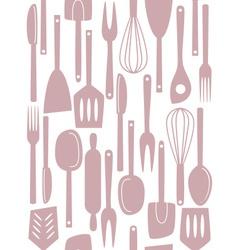 kitchen utensils seamless vector image vector image