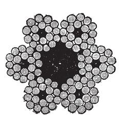 Metal Wire ropes vintage engraving vector image vector image