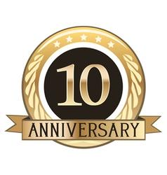 Ten Year Anniversary Badge vector image